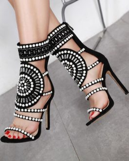 Stiletto Heel Chic Square Toe Sandals