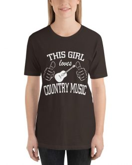This girl loves country music Unisex Short Sleeve T-Shirts
