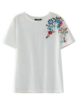 Vintage boho chic angel print short sleeve t-shirt