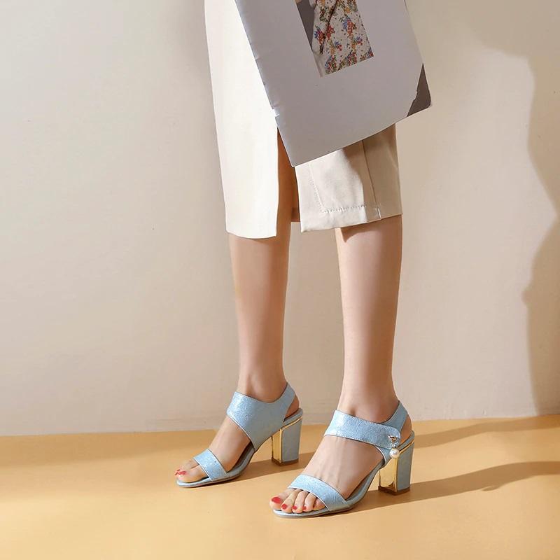 Block Heel Open toe Sandals 10.1