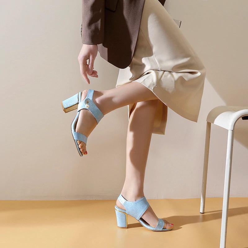 Block Heel Open toe Sandals 10.2