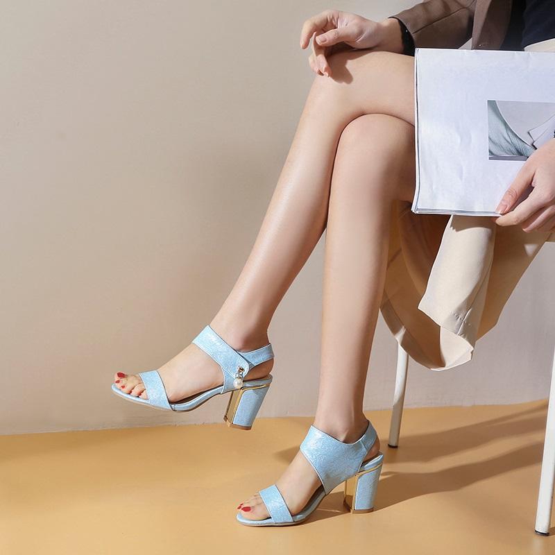 Block Heel Open toe Sandals 10.3