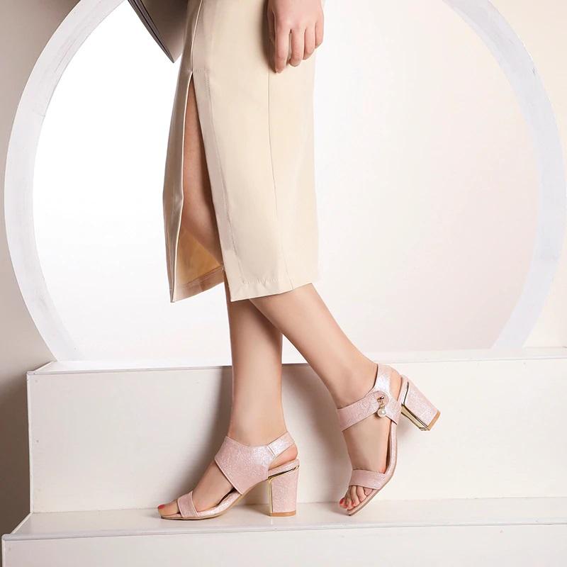 Block Heel Open toe Sandals 10.5