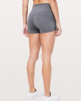 Breathable High Waist Solid Yoga Shorts