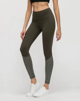 Calf Prints Squat proof Fitness Workout Leggings