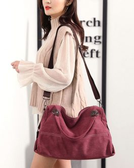 Casual Canvas Multi-carry Handbag Crossbody Bag