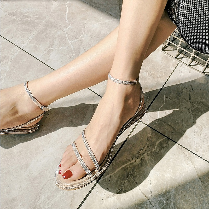 Casual Fashion Ankle Strap Flat Sandals 7.1