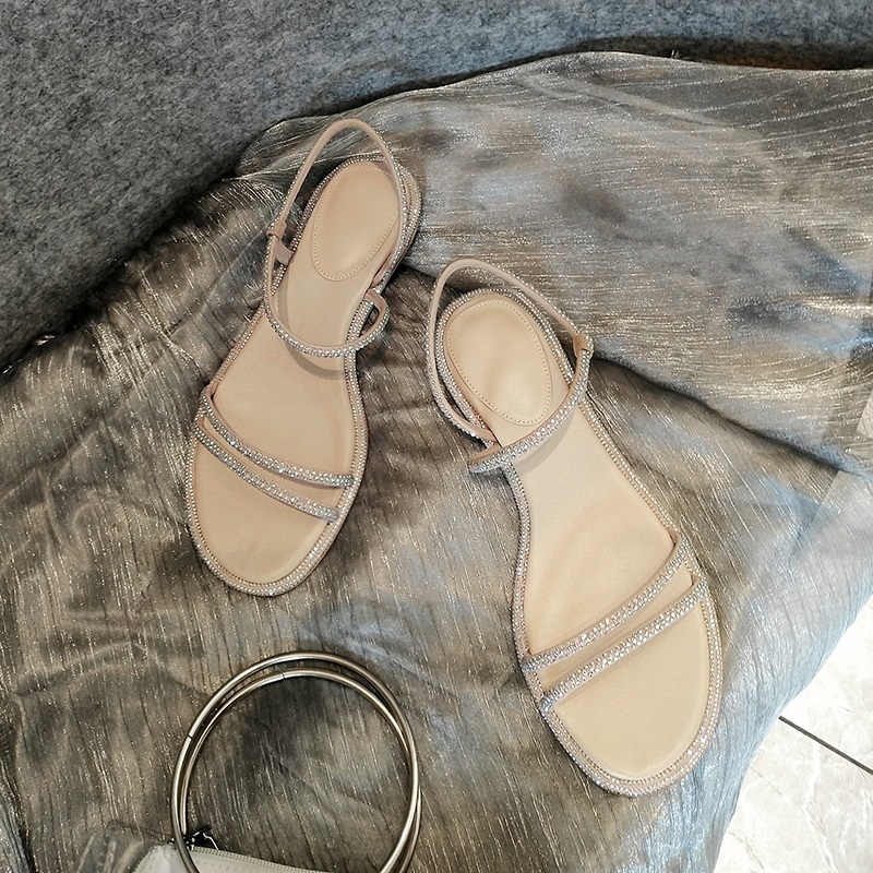 Casual Fashion Ankle Strap Flat Sandals 7.5