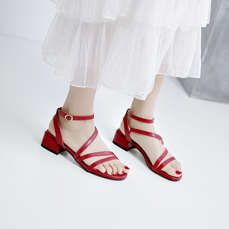 Casual Low Heels Sandals Pu Shoes 10.1