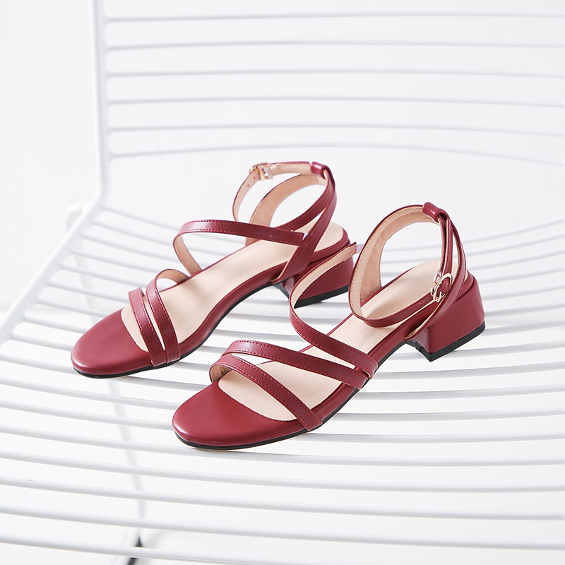 Casual Low Heels Sandals Pu Shoes 10.10