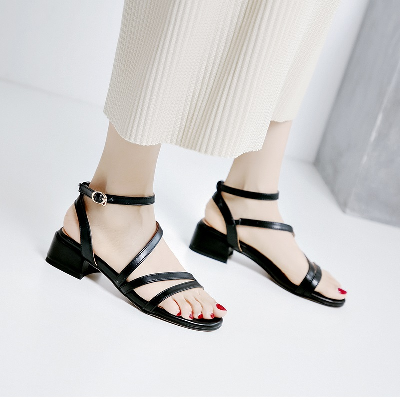 Casual Low Heels Sandals Pu Shoes 10.2