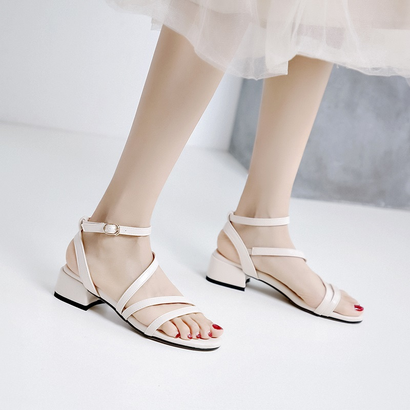 Casual Low Heels Sandals Pu Shoes 10.5