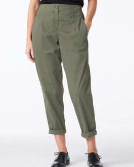 Casual Pure Color Side Pockets Elastic Waist Pants