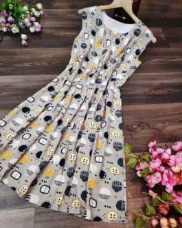 Casual Sleeveless Printed Mini Dress