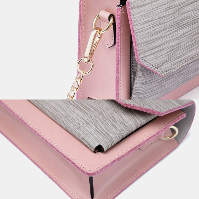 Chain Patchwork Phone Bag Crossbody Bag Shoulder Bag5
