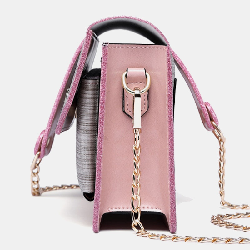 Chain Patchwork Phone Bag Crossbody Bag Shoulder Bag7