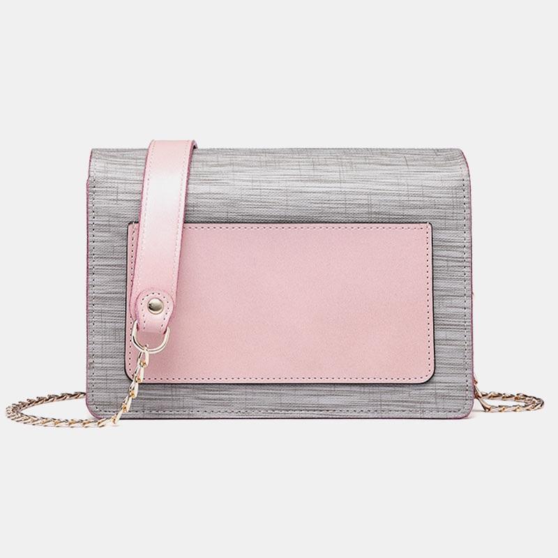 Chain Patchwork Phone Bag Crossbody Bag Shoulder Bag8