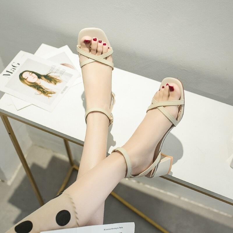 Cross Strap Conice Office Open Toe Sandals 10.1