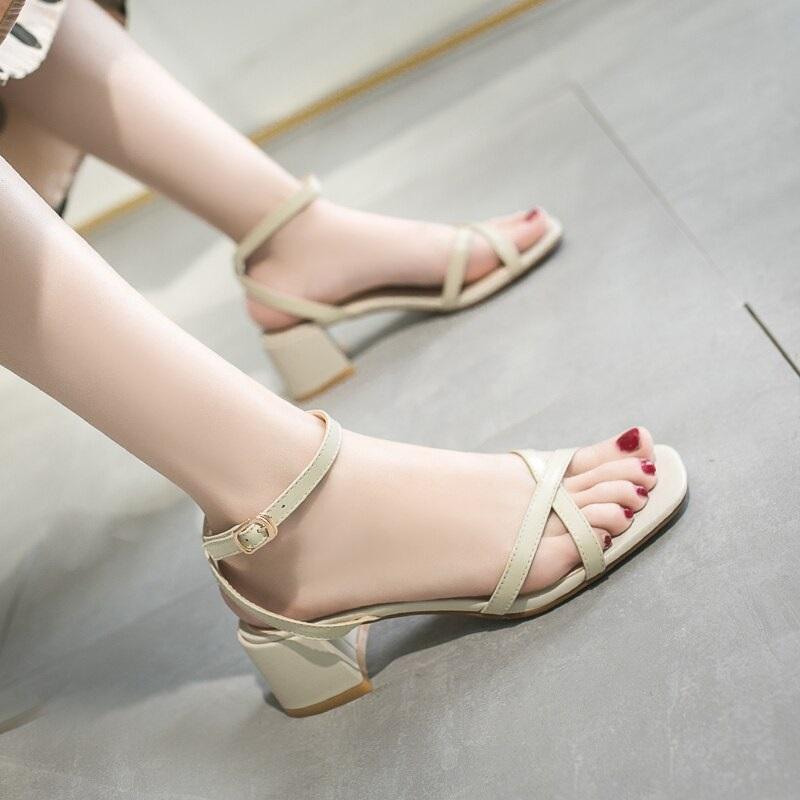 Cross Strap Conice Office Open Toe Sandals 10.2