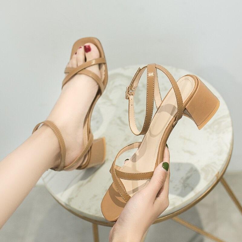 Cross Strap Conice Office Open Toe Sandals 10.3