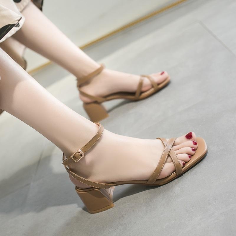 Cross Strap Conice Office Open Toe Sandals 10.4