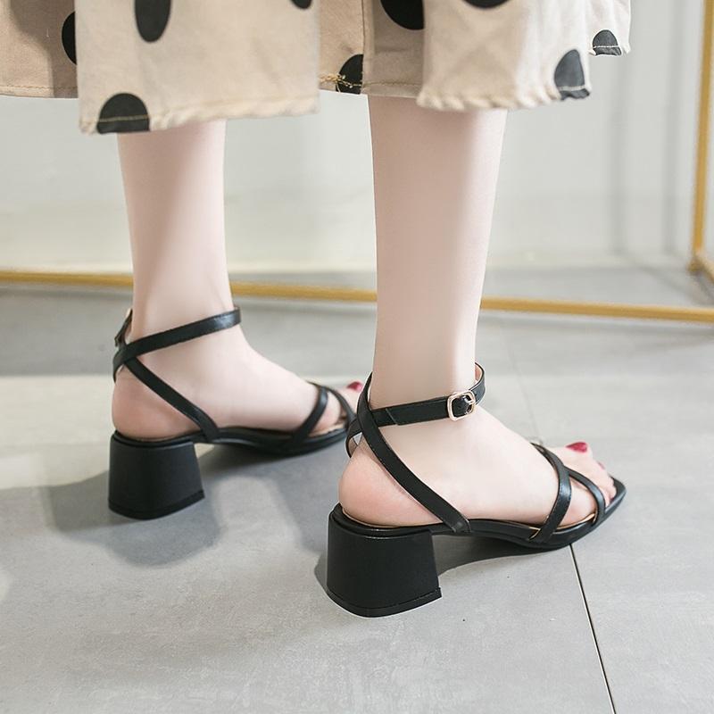 Cross Strap Conice Office Open Toe Sandals 10.5