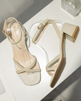 Cross Strap Office Open Toe Sandals