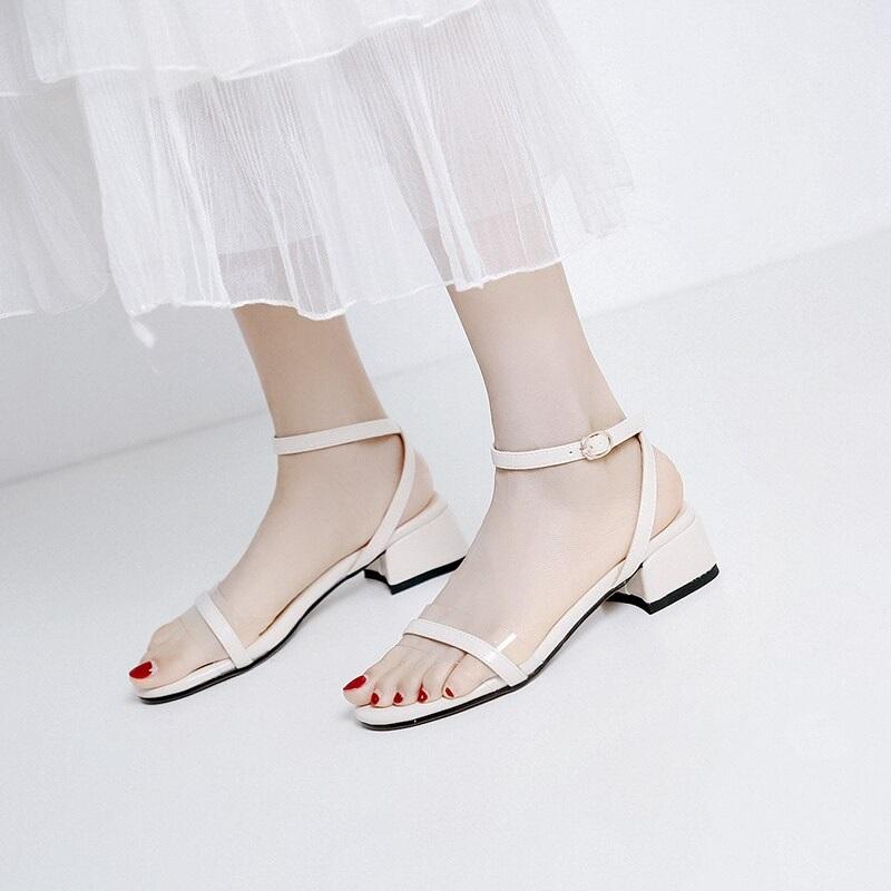 Cross Strap Transparent Sandals 8.1 1