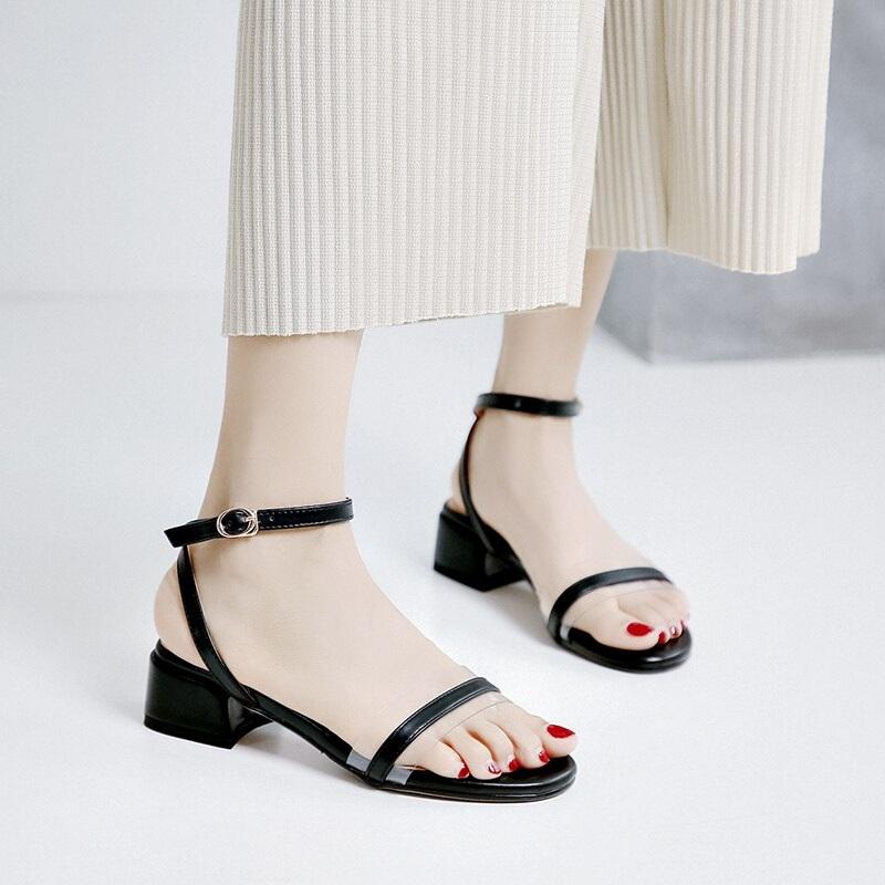 Cross Strap Transparent Sandals 8.2