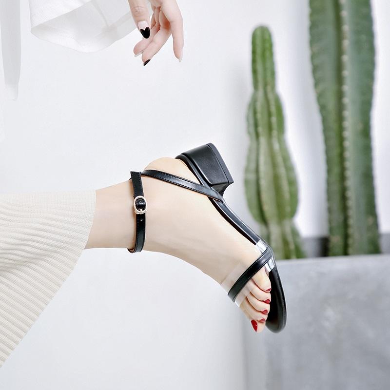 Cross Strap Transparent Sandals 8.3