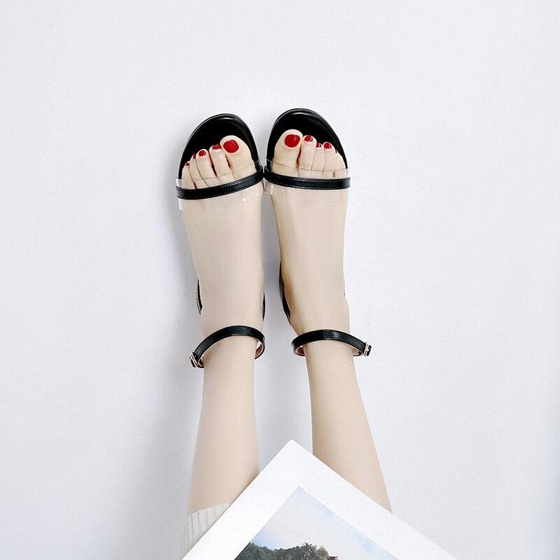 Cross Strap Transparent Sandals 8.4