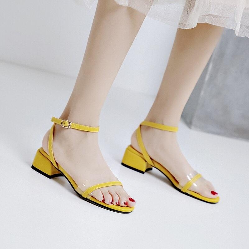 Cross Strap Transparent Sandals 8.5