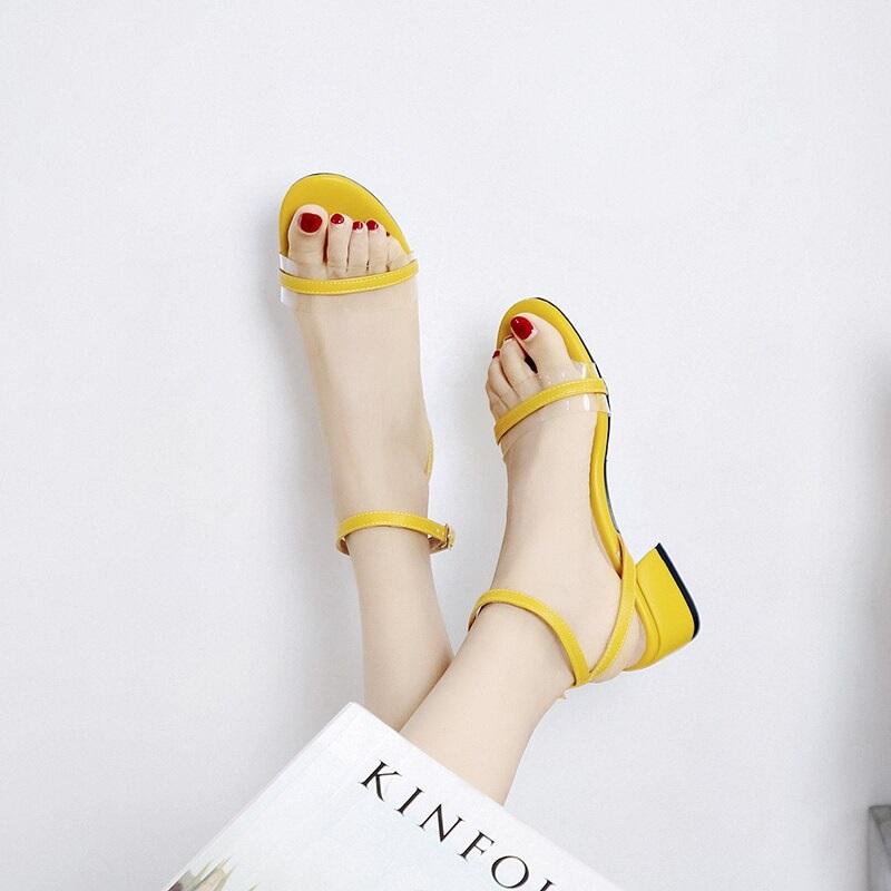 Cross Strap Transparent Sandals 8.6