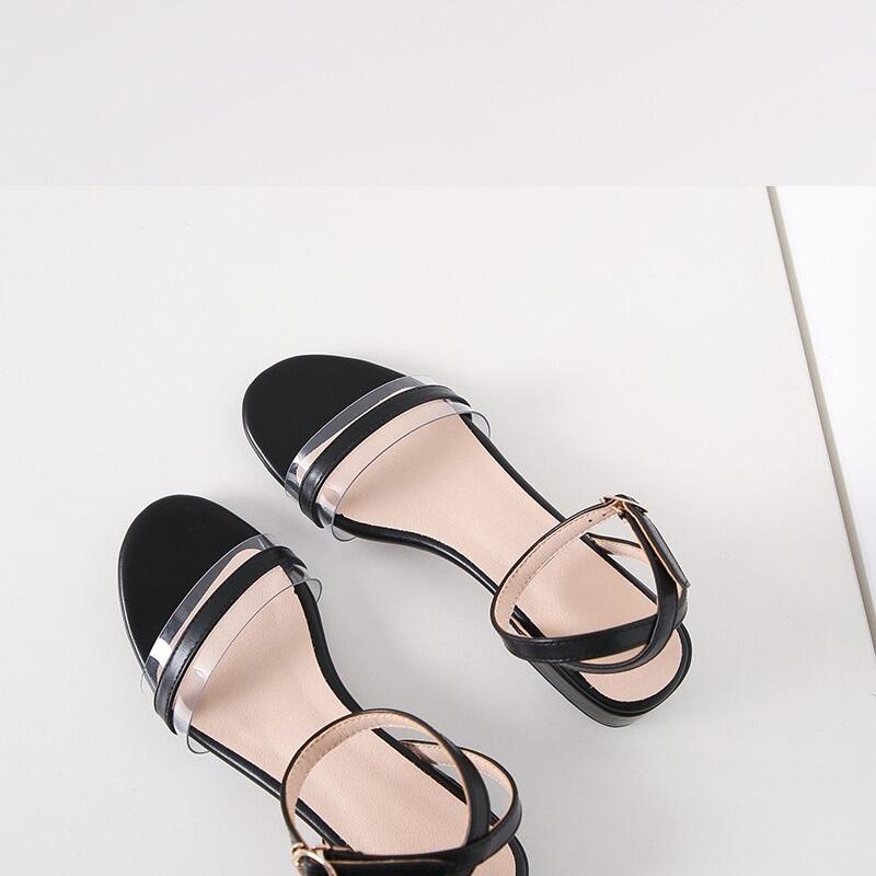 Cross Strap Transparent Sandals 8.7