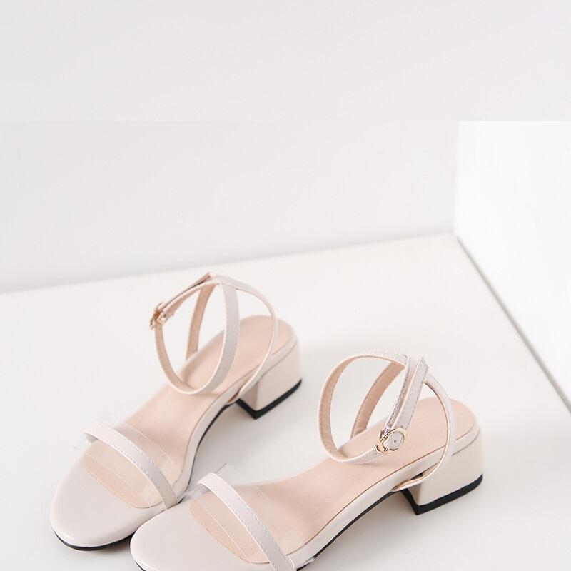 Cross Strap Transparent Sandals 8.8