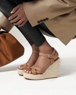 Cross Strap Wedges High Heel Sandals