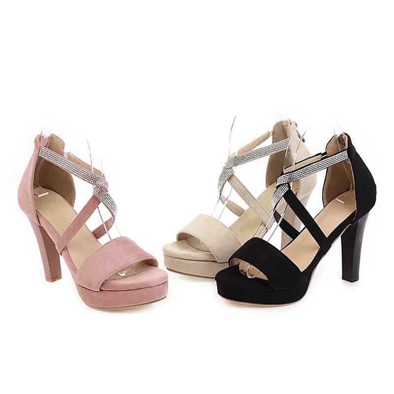Crystal Strips High Heels Sandals 10.8