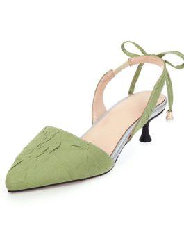 Fashion Pointed Toe Low Heel Sandal