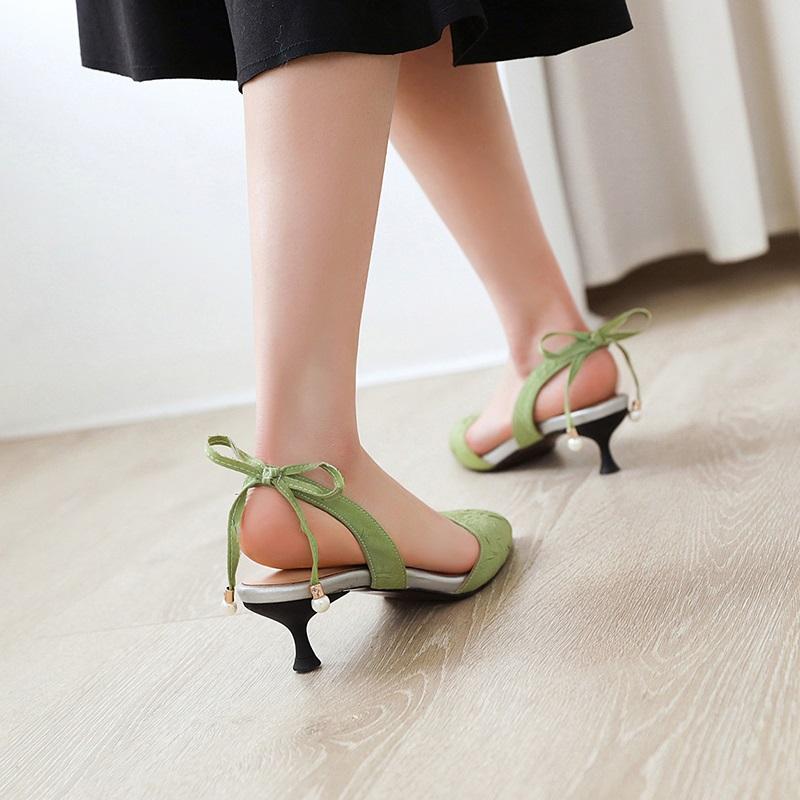 Fashion Pointed Toe Low Heel Sandal 10.4