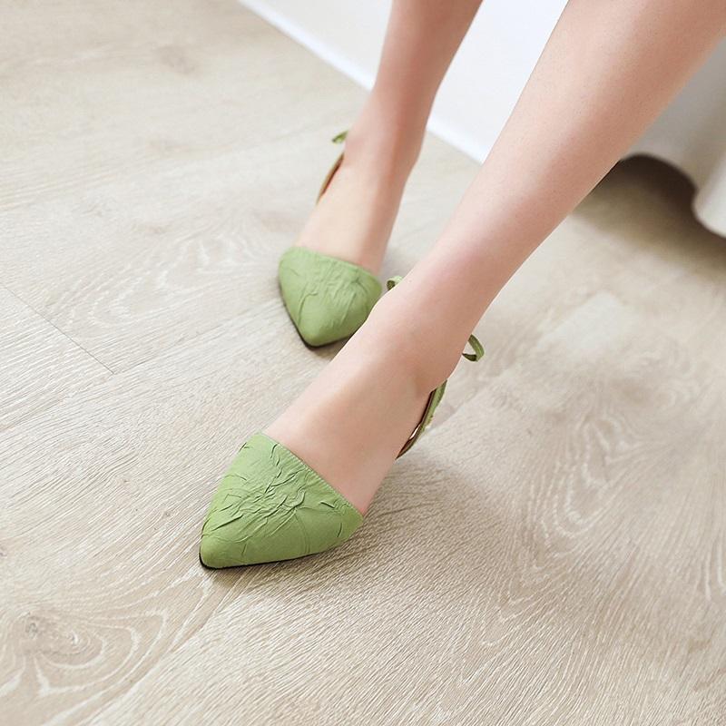 Fashion Pointed Toe Low Heel Sandal 10.5