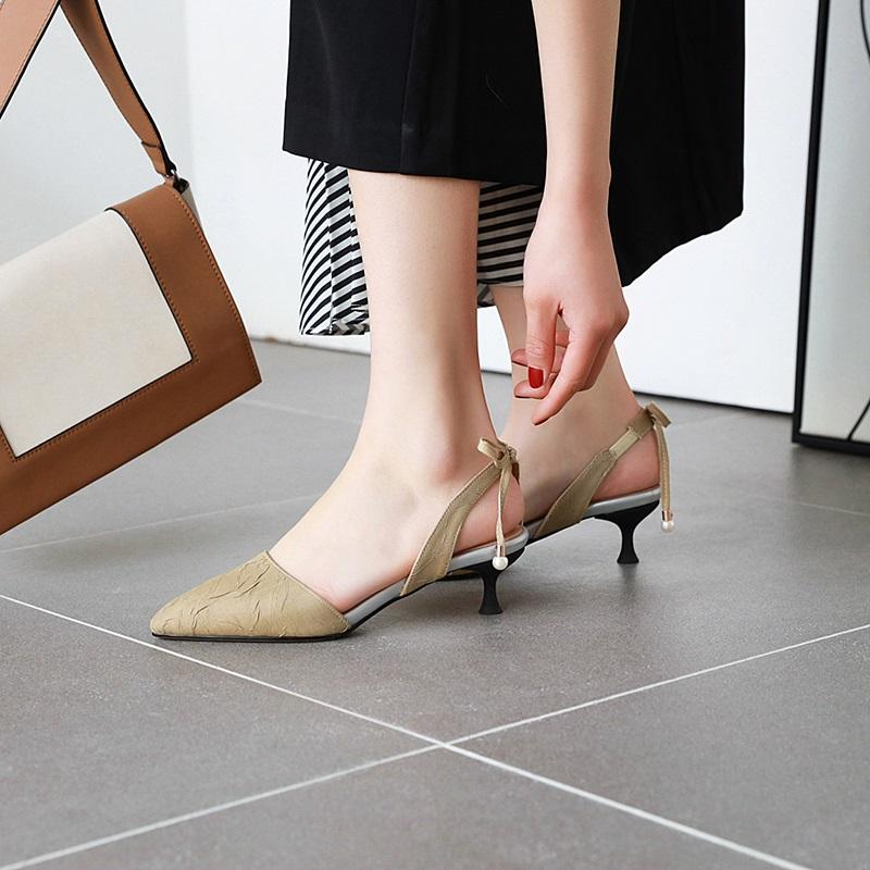 Fashion Pointed Toe Low Heel Sandal 10.7