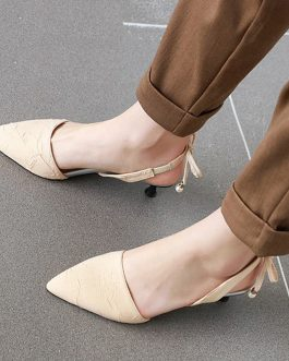Fashion Pointed Toe Low Heel Sandal