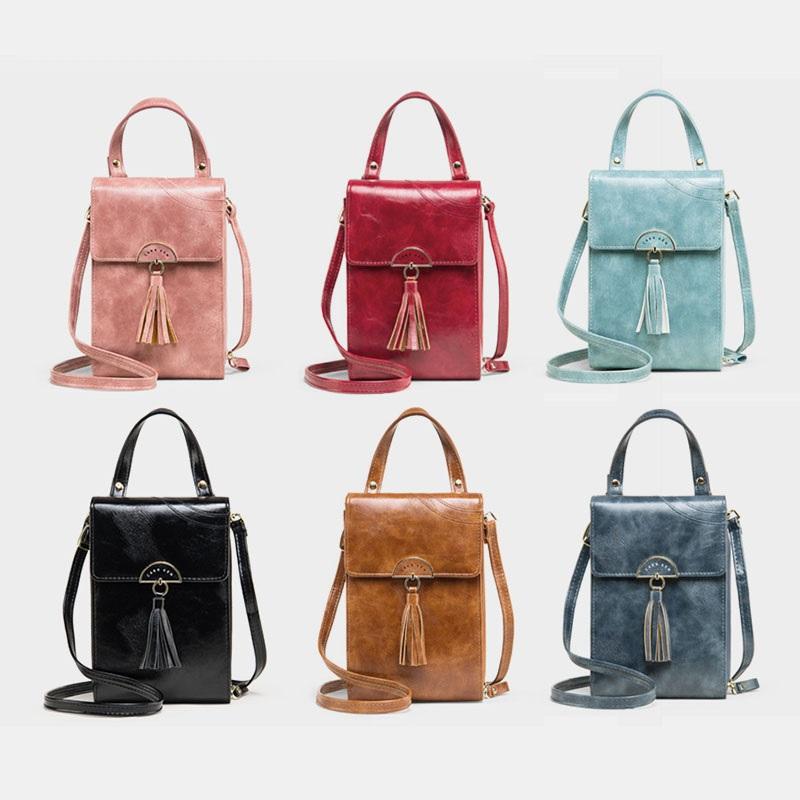Fashion Tassel Shoulder Bag Phone Bag1