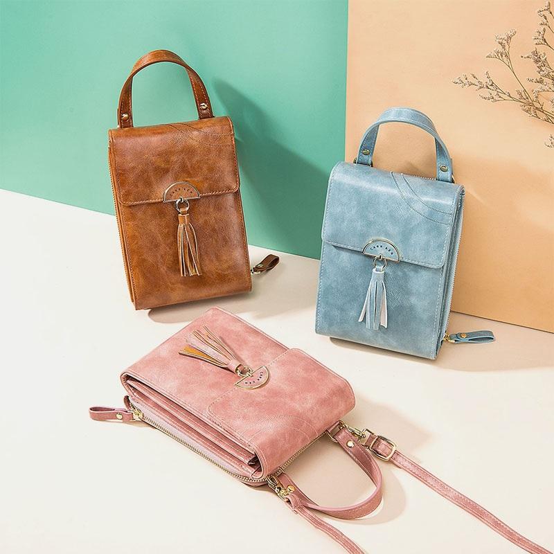 Fashion Tassel Shoulder Bag Phone Bag2