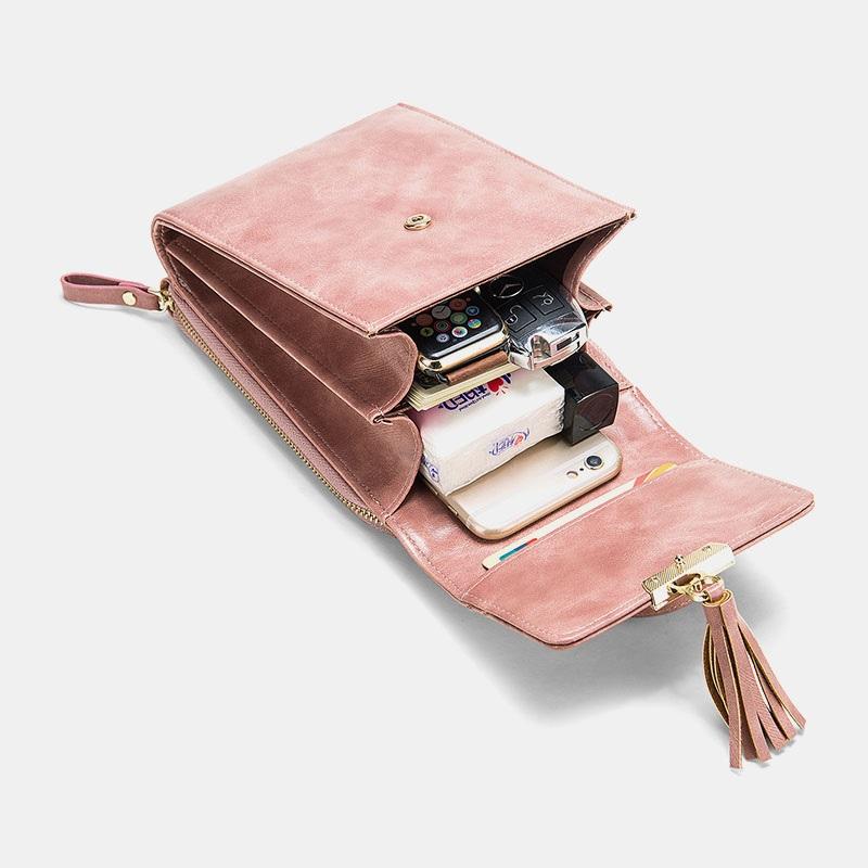 Fashion Tassel Shoulder Bag Phone Bag5