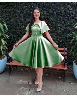 Formal Evening Solid Color Fashion Mini Dress