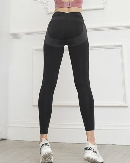 High Waist Solid Color Yoga Pants