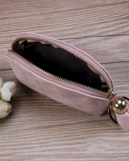 High quality Leather Sweet Zip Coin Small Wallet