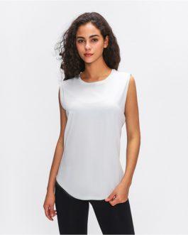 Hip-length Sport yoga tops vest leisure sleeveless shirts