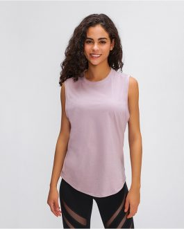 Hip-length loose cut Running Fitness Gym sleeveless shirts